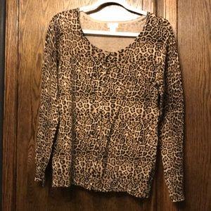 Leopard Print cardigan Large.